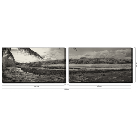 "Placid Archipelago ""MIDDLEFOREST"" (Diptych)"